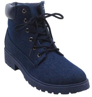 BLUE SUEDE SHOES Blue Kimber Mil Fall Boots for Womens Denim