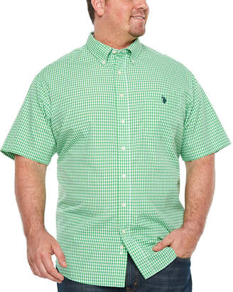 U.S. Polo Assn. USPA Short Sleeve Button-Front Shirt-Big and Tall