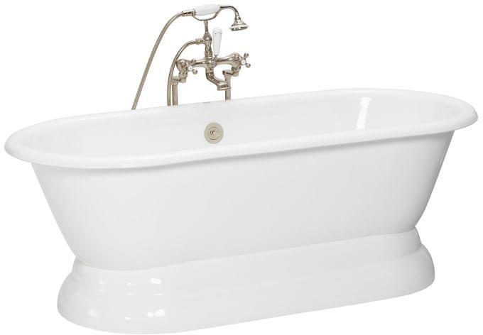 Porcelain Pedestal Bathtub