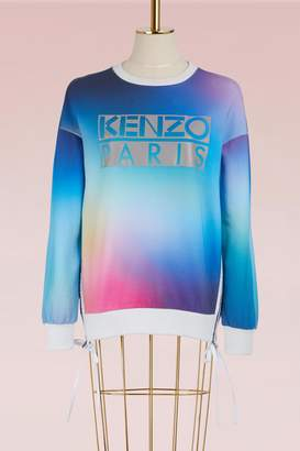 Kenzo Cotton Sweater with Northern Lights Print