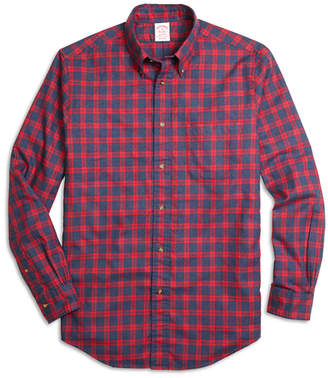 Brooks Brothers Madison Fit Flannel Check Sport Shirt