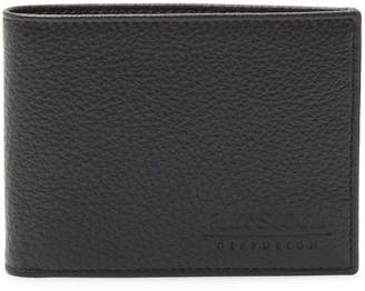 a. testoni Men's Textured Leather Bi-Fold Wallet