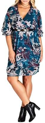 City Chic Envelop Me Chiffon Dress