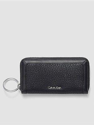 Calvin KleinCalvin Klein Womens Quinn Large Zip Wallet Black