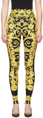 Versace Black Medusa Barroco Leggings