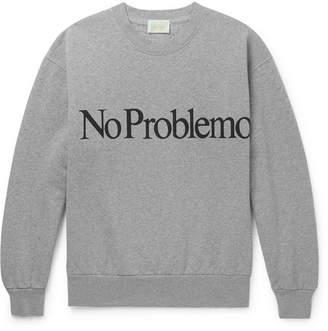 Aries No Problemo Printed Fleece-Back Cotton-Jersey Sweatshirt