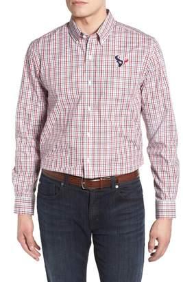 Cutter & Buck Houston Texans - Gilman Regular Fit Plaid Sport Shirt