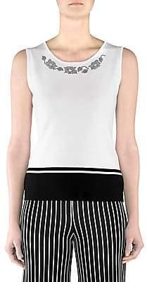 Stizzoli, Plus Size Women's Beaded Sleeveless Shell Top