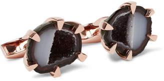 Tateossian Rose Gold-Plated Geode Cufflinks