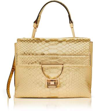 Coccinelle Arlettis Metallic Python Leather Mini Bag w/Shoulder Strap