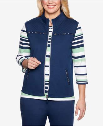 Alfred Dunner Petite Cote D'Azur Embellished Vest
