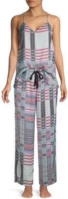 Natori Lotus Bouquet Printed Satin Cami Pajama Set