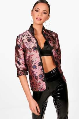 boohoo Metallic Oriental Jacket