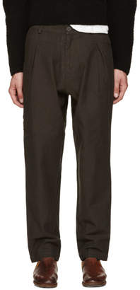 Isabel Benenato Grey Pleated Trousers