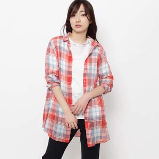 smartpink (スマートピンク) - スマートピンク smart pink シャーリングチェックシャツ (ボルドー)