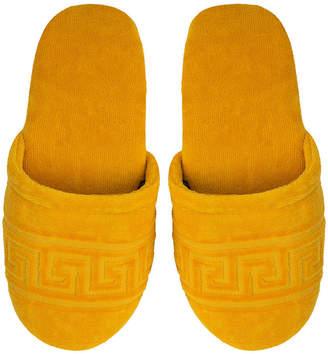 Versace Medusa Classic Jacquard Slippers - Gold - Small