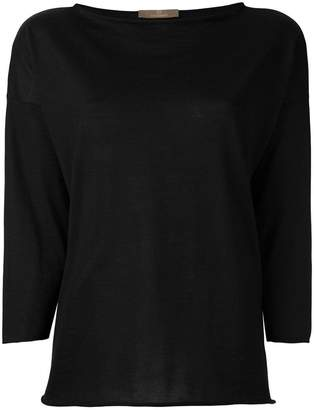 Cruciani boat neck jumper
