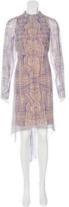 Vera Wang Silk Printed Dress $195 thestylecure.com