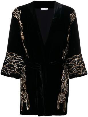 P.A.R.O.S.H. sequin-embellished velvet jacket