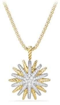 David Yurman Starburst Medium Pendant Necklace With Diamonds In 18K