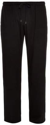 Derek Rose Basel Straight Leg Jersey Trousers - Mens - Black