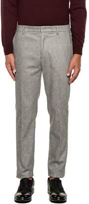 Paolo Pecora Light Gray Pied De Poule Wool Trousers