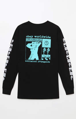 Obey Subliminal Propaganda Long Sleeve T-Shirt