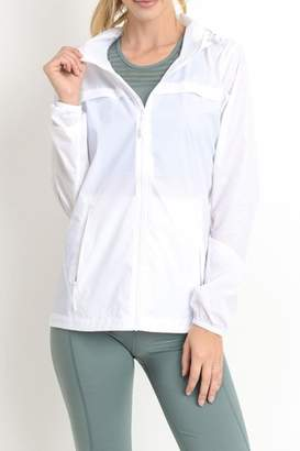 Mono B White Windbreaker
