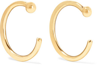 Melissa Joy Manning - 14-karat Gold Hoop Earrings - one size $100 thestylecure.com