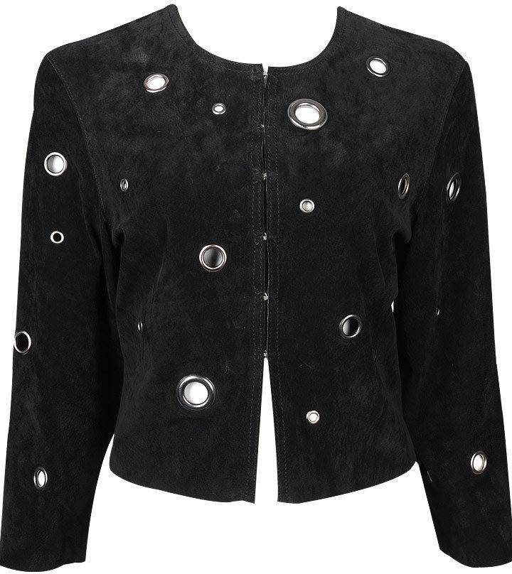 Suede Grommet Jacket