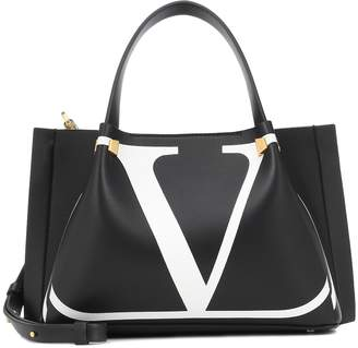Valentino Go Logo Escape leather shopper