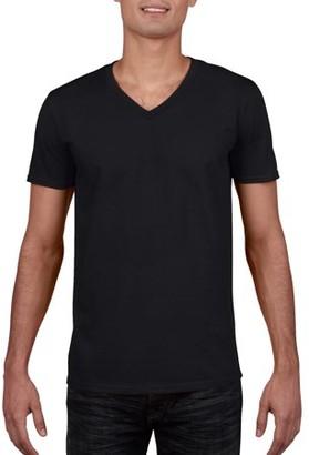 Gildan Big Mens Fitted V-Neck Short Sleeve T-Shirt, 2XL