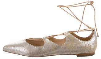 Loeffler Randall Suede Lace-Up Flats