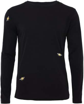 Ingmarson Bee Embroidered Long Sleeved Top Black Men