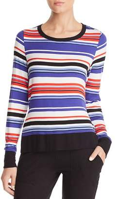 Andrew Marc Striped Side Slit Top
