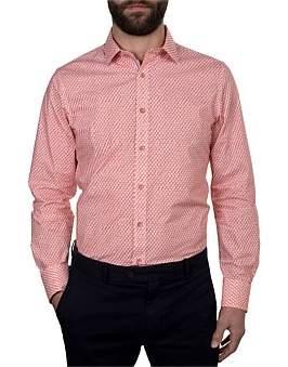 James Harper Lowan Blocks Print Slim Fit Shirt