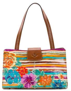 Patricia Nash Floral-Embroidered Leather Satchel