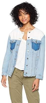 Armani Exchange A|X Women's Patchwork Denim Jacket