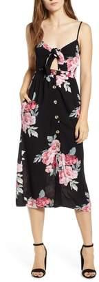 Mimichica Mimi Chica Button Front Keyhole Dress
