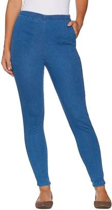 Denim & Co. Regular Pull-on Stretch Denim Legging