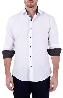 Bespoke Long Sleeve Solid Button Up Modern Fit Shirt