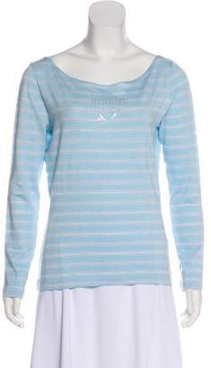 Blugirl Striped Embellished T-Shirt