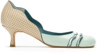 Sarah Chofakian leather pumps with cut details