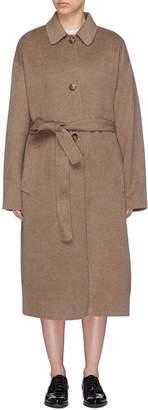 MS MIN Belted cashmere melton coat