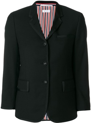 Thom Browne flap pockets fitted blazer
