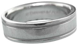 Tiffany & Co. 950 Platinum Double Milgrain Wedding Band Ring Size 7