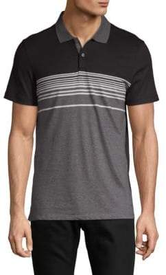 Calvin Klein Liquid Touch Colorblock Cotton Polo