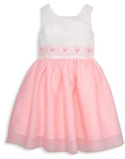 Janie and Jack Baby's, Toddler's, Little Girl's & Girl's Floral Embroidered Dress