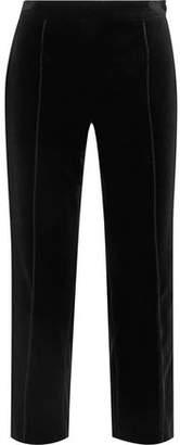 Lanvin Cropped Cotton-Velvet Tapered Pants