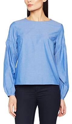 86590c9790da3 ... Tom Tailor Women s Chambray Baloon Sleeve Blouse Shirt  Blouse,(Manufacturer Size  Medium)